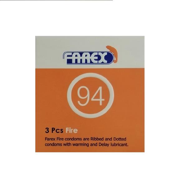 کاندوم فارکس مدل fire بسته 3 عددی