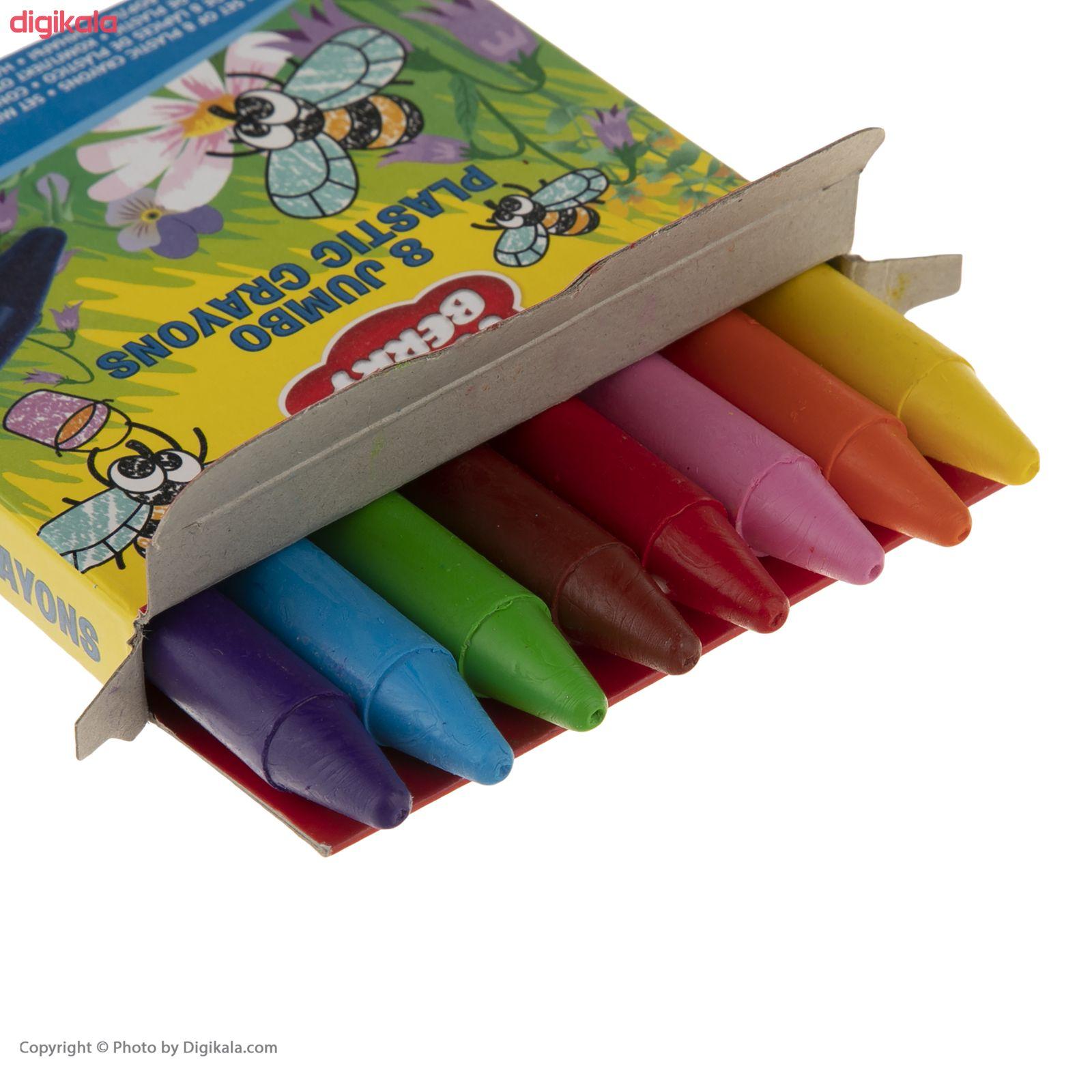 مداد شمعی 8 رنگ اریک کراوزه مدل EK33113 main 1 4