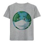 تی شرت پسرانه مدل آستین کوتاه ماسک و زمین M43
