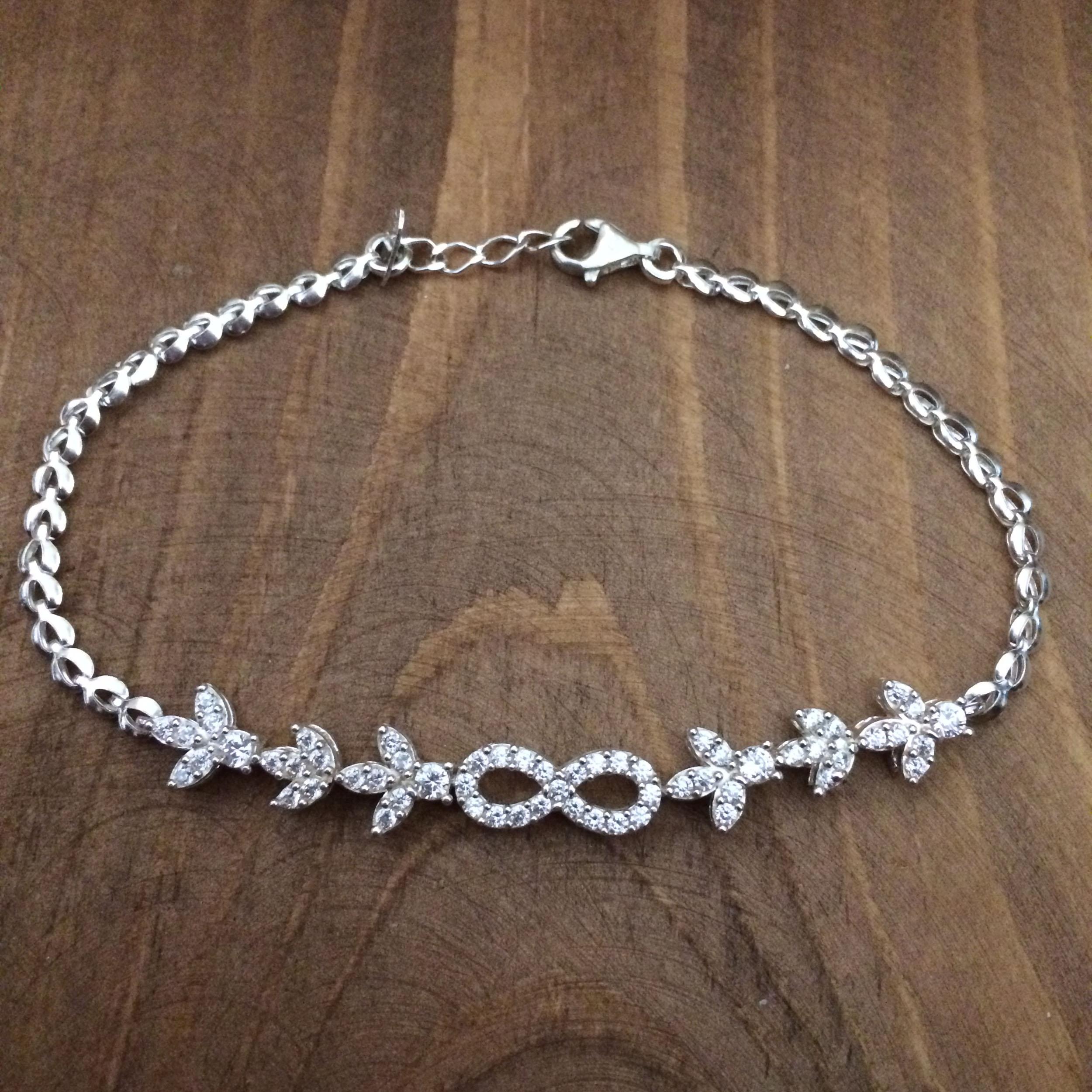 دستبند نقره زنانه  کد 3039