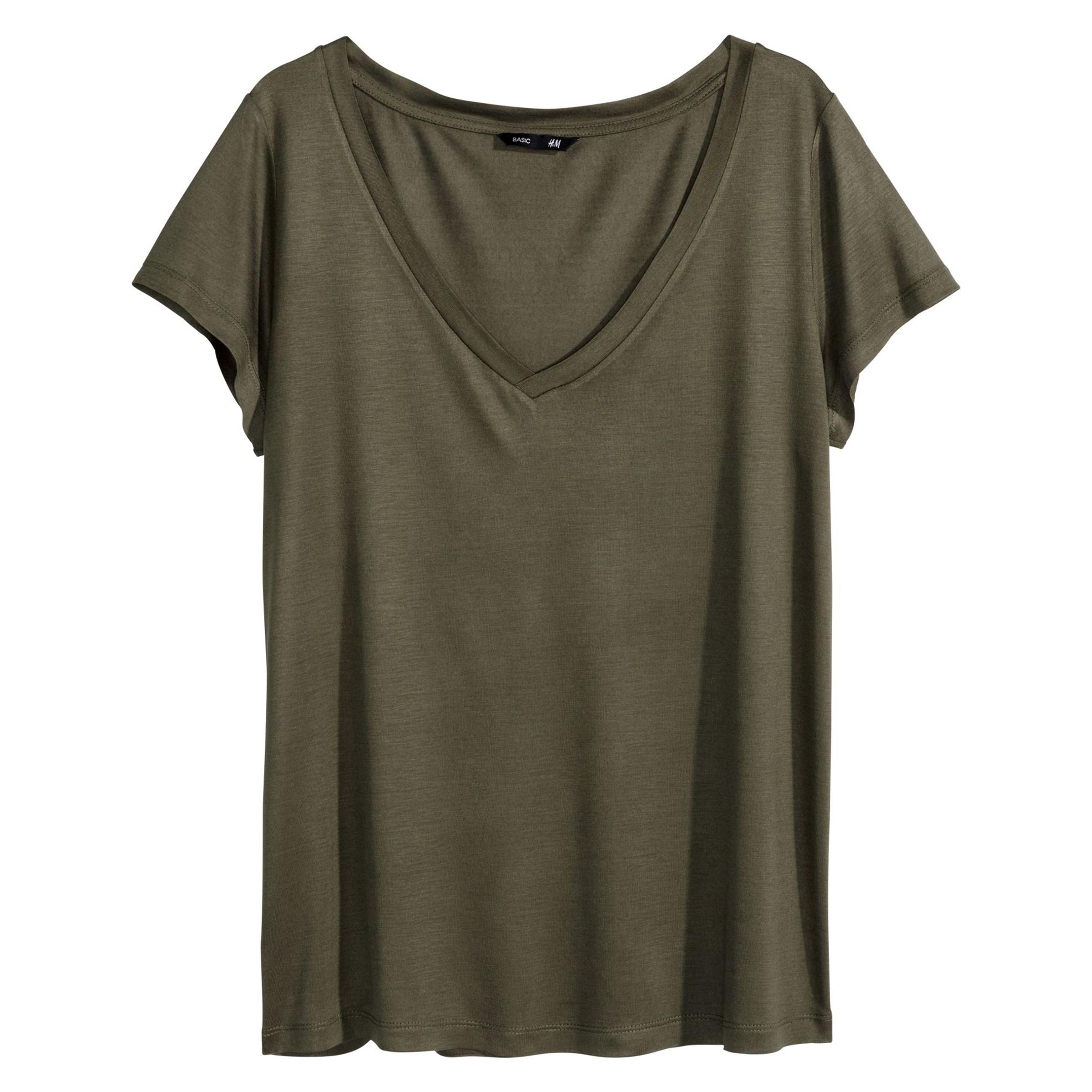 تی شرت آستین کوتاه زنانه اچ اند ام مدل 0257667