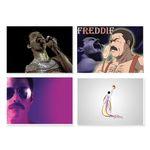 پوستر طرح فردی مرکوری کد A-2187-Freddie Mercury مجموعه 4 عددی