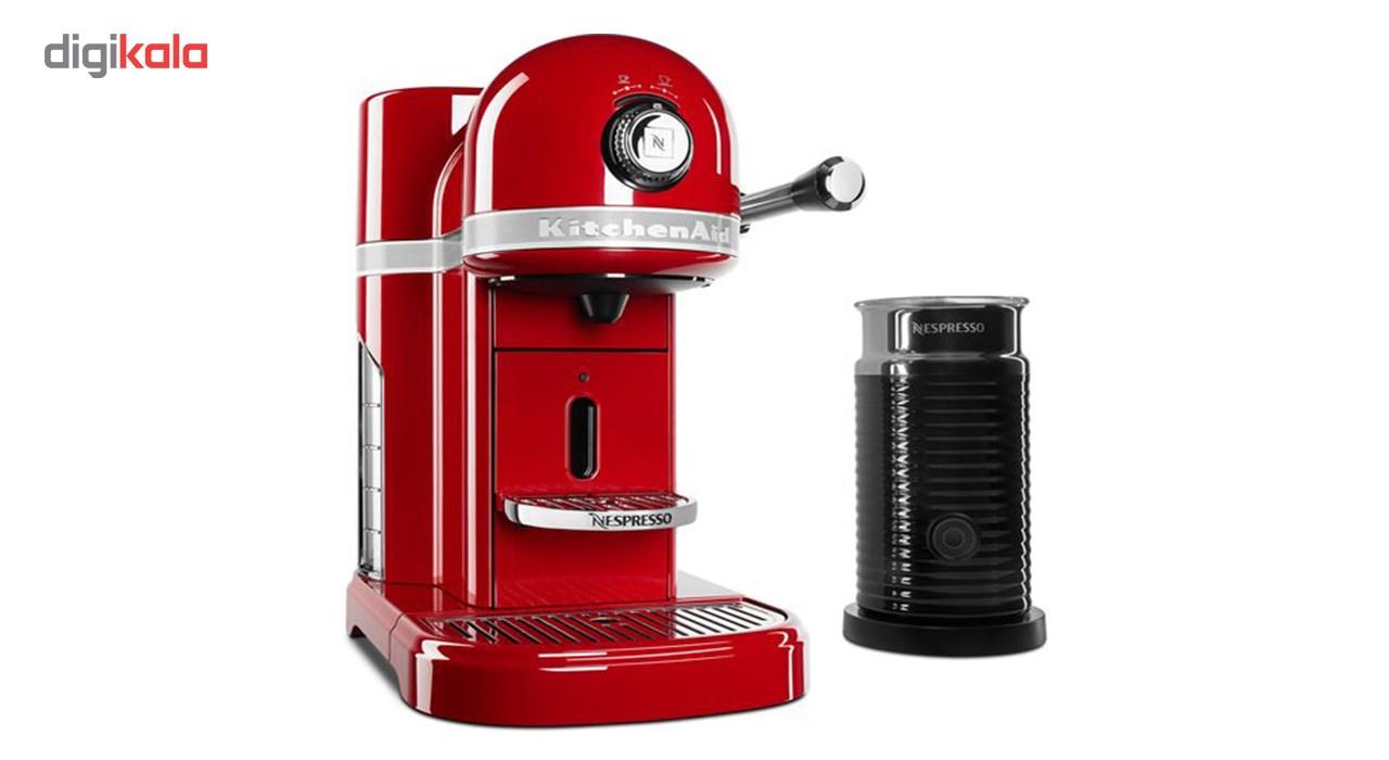 اسپرسوساز نسپرسو مدل KitchenAid همراه با دستگاه کف شیر ساز