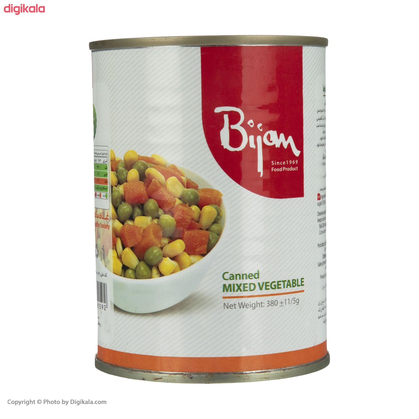 کنسرو سبزی مخلوط بیژن - 380 گرم main 1 2