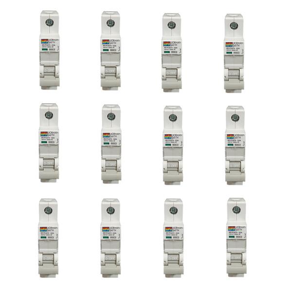 فیوز مینیاتوری تک فاز 63 آمپر دورمن اسمیت مدل MS1PC63 بسته 12 عددی