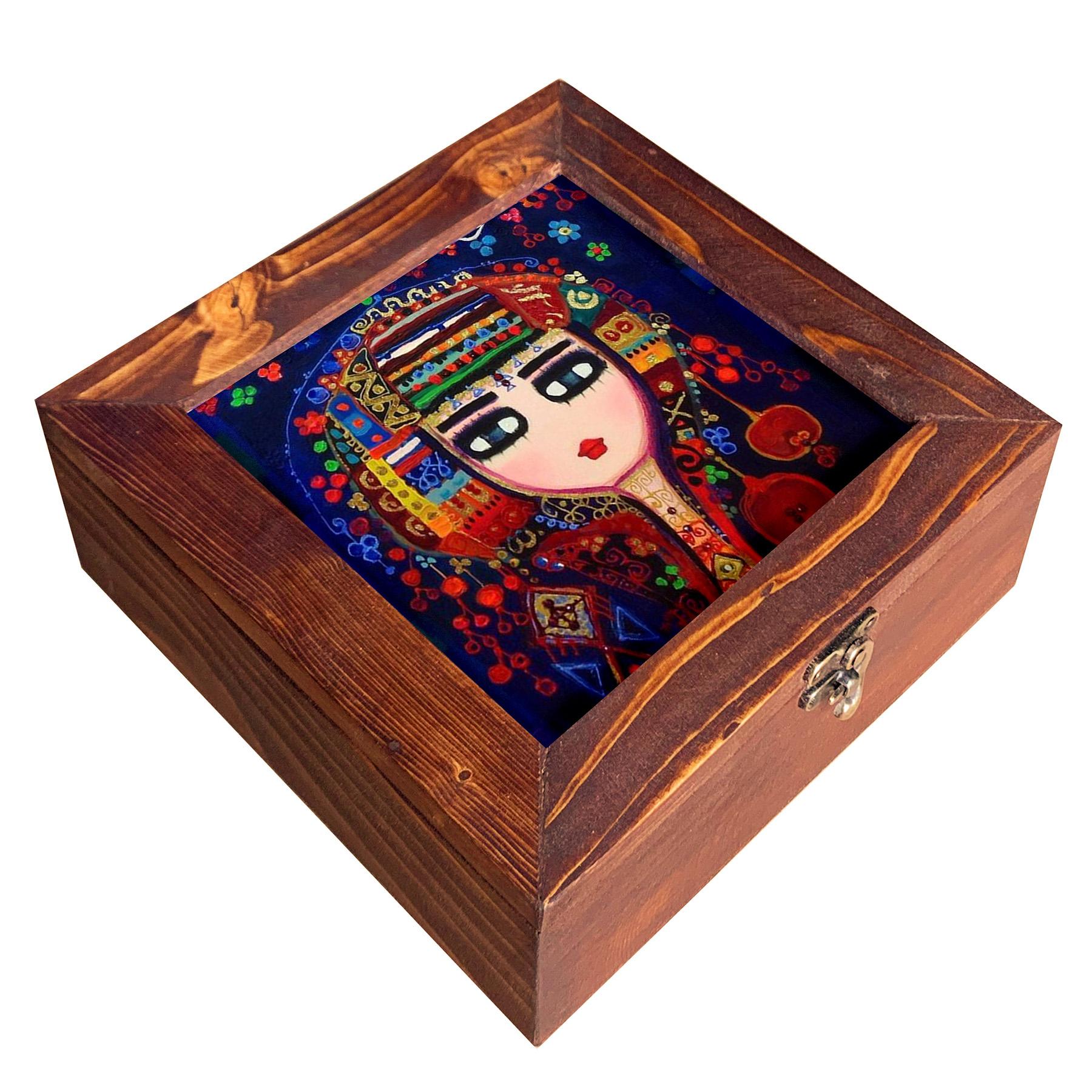 جعبه هدیه چوبی مدل  CG34