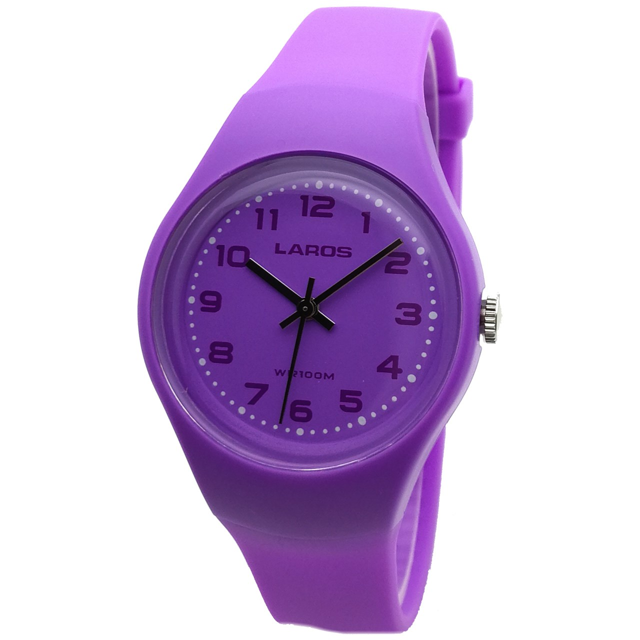 ساعت مچی عقربه ای لاروس مدل LC-A300-Purple