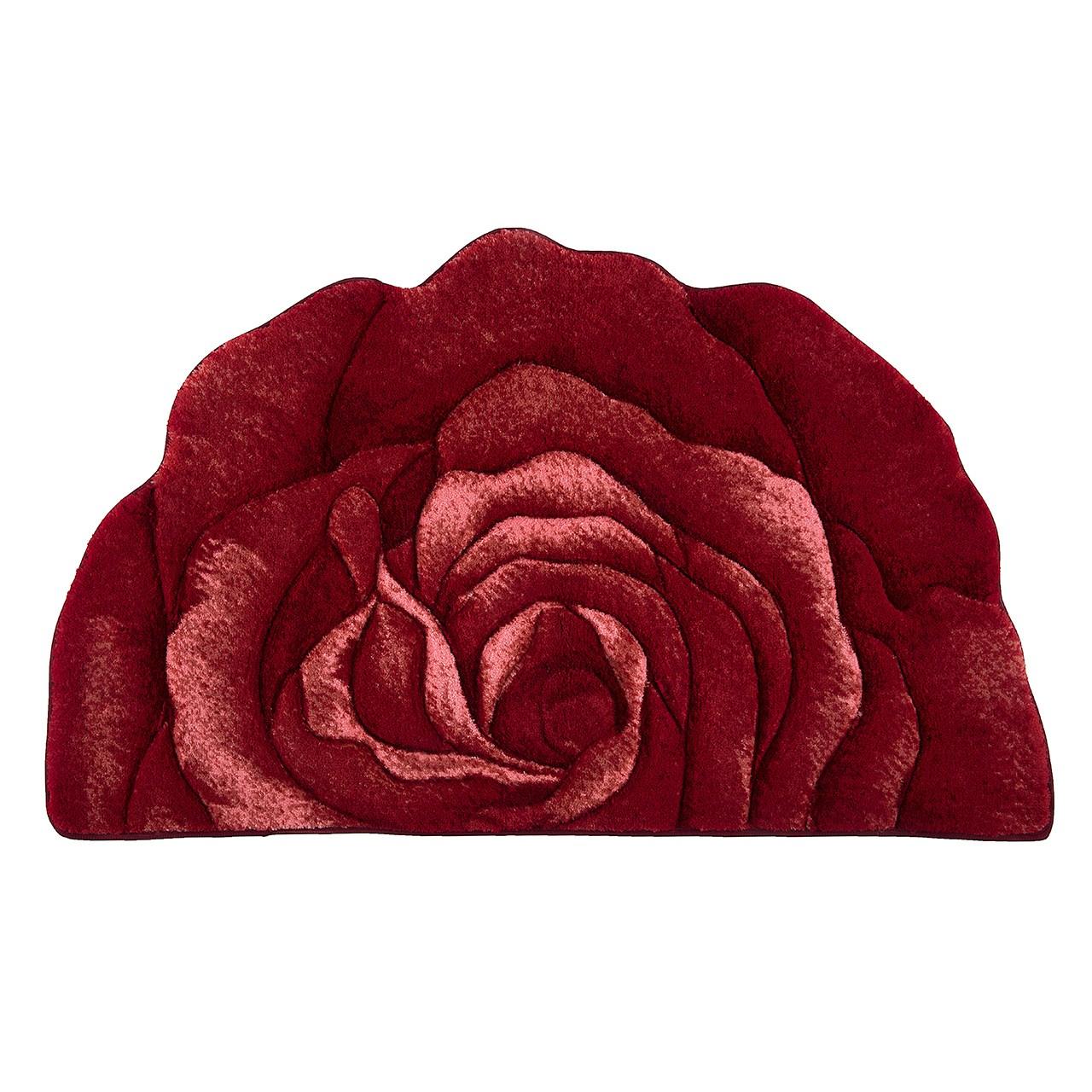 فرش تزیینی زرباف مدل گل رز سه بعدی سایز 47 × 80 سانتی متر