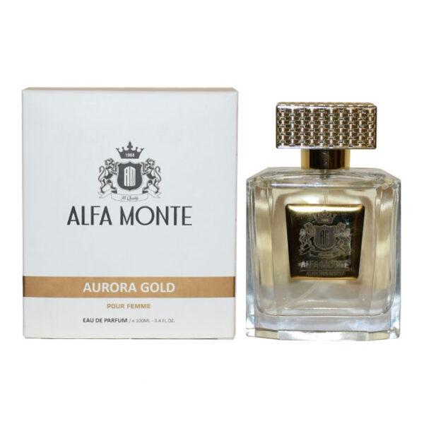ادو پرفیوم زنانه آلفا مونته مدل Aurora Gold حجم 100 میلی لیتر