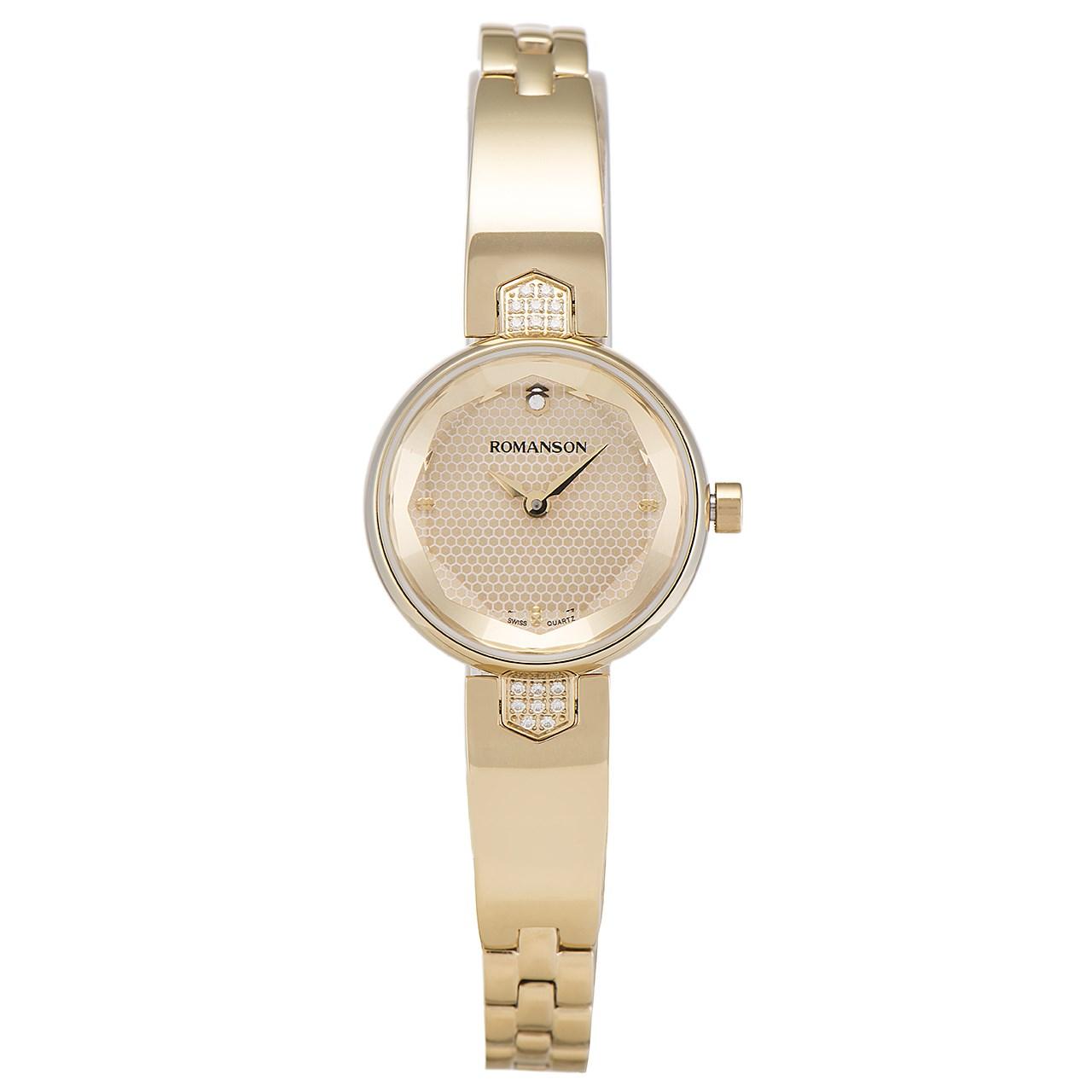 59fc0480d ساعت مچی عقربه ای زنانه رومانسون مدل RM6A04QLGGA8R1