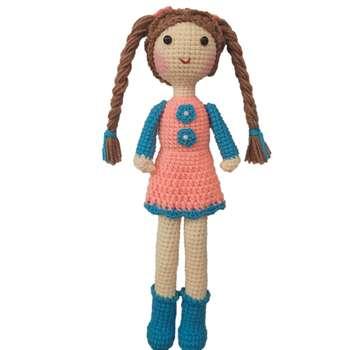 عروسک بافتنی مدل دختر کد 013