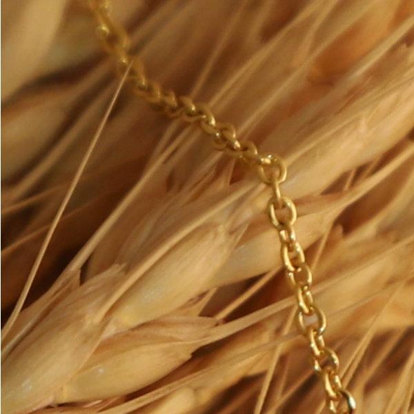 گردنبند طلا 18 عیار زنانه آمانژ کد D10032