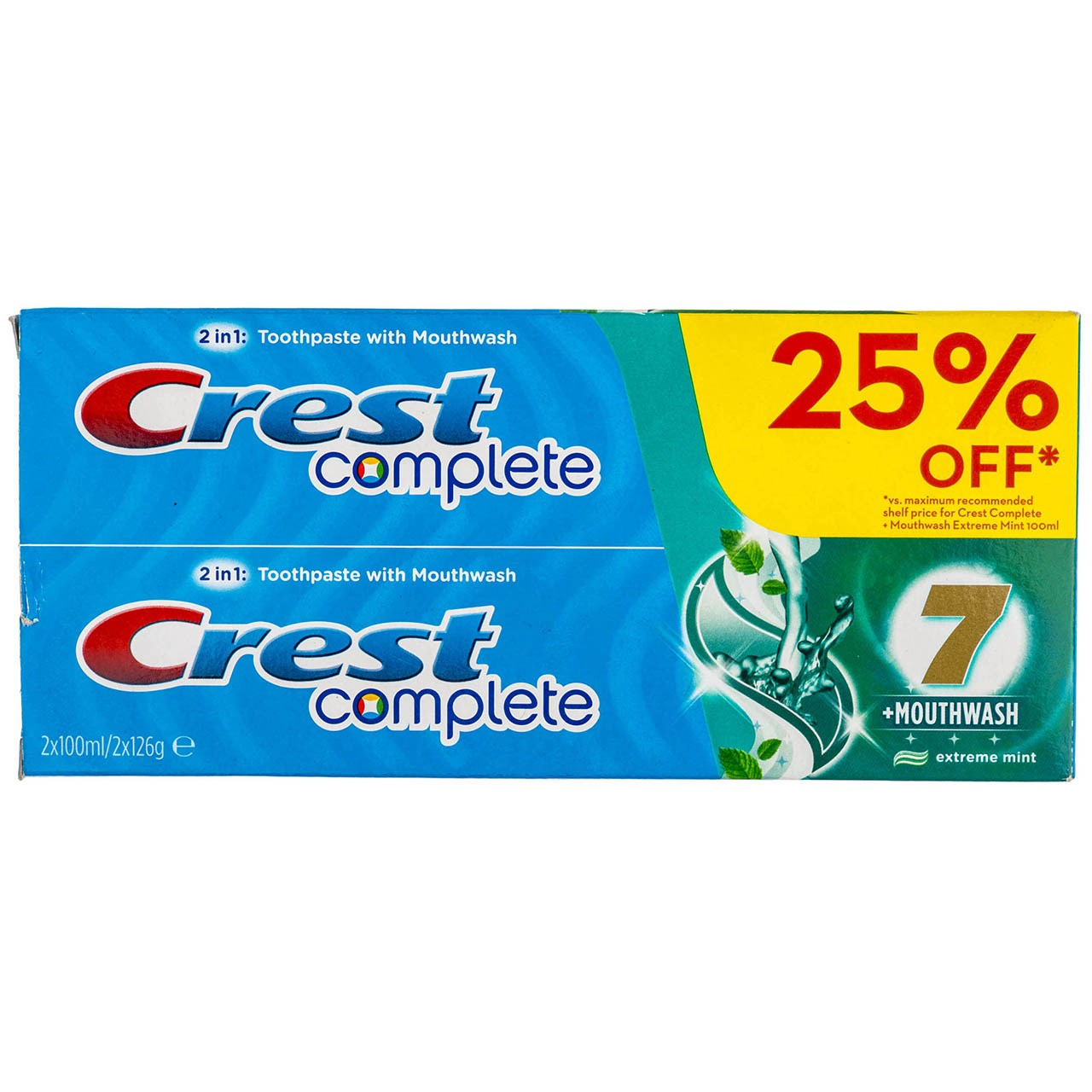 قیمت پک خمیر دندان کرست مدل C7 Plus Mouthwash حجم 100 میلی لیتر بسته 2 عددی