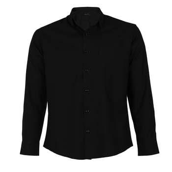 پیراهن آستین بلند مردانه ناوالس مدل NOx8020-BK