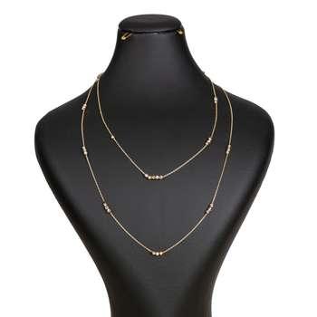 گردنبند طلا 18 عیار زنانه گالری یار طلا کد GL06