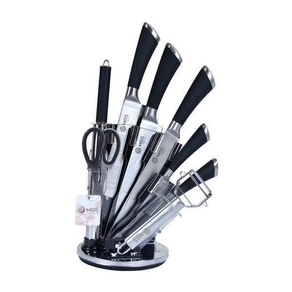 سرویس چاقو اشپزخانه 9 پارچه ام جی اس مدل KS9013B