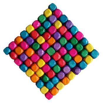 مهره مدل مکعب مجموعه 100 عددی