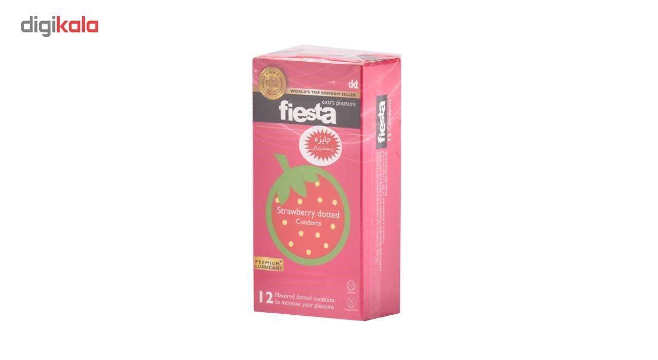 کاندوم خاردار فیستا مدل Strawberry Dotted بسته 12 عددی main 1 1