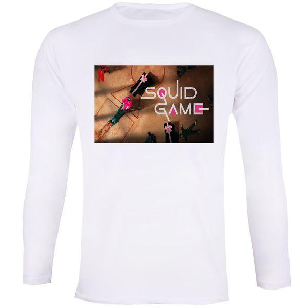 تی شرت آستین بلند زنانه مدل بازی مرکب Squid Game 013