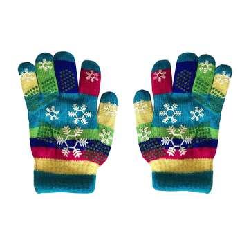 دستکش بافتنی دخترانه طرح دانه برف کد 7-10