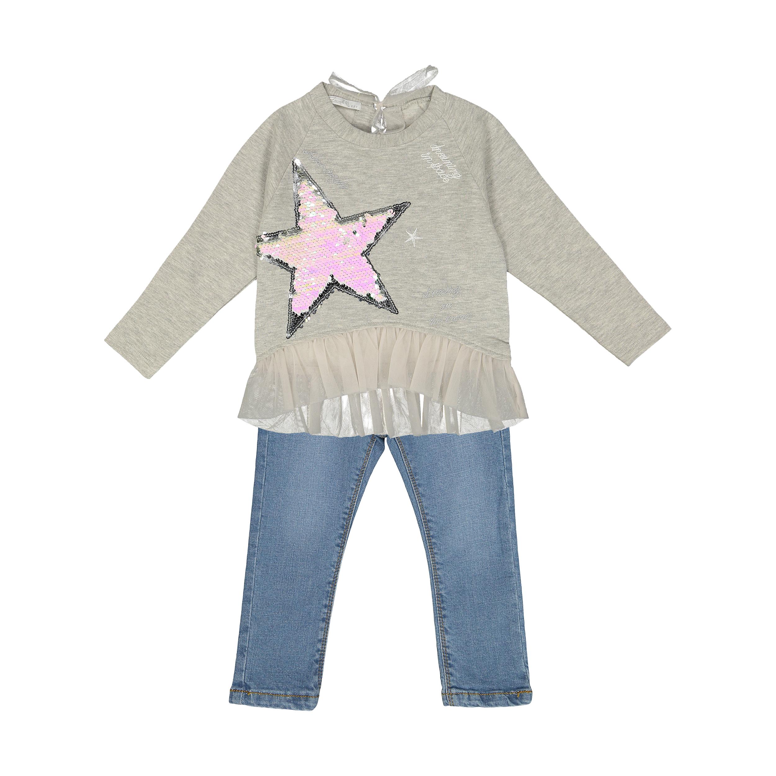 ست بلوز و شلوار دخترانه نوزادی فیورلا مدل 30511