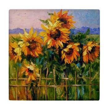 کاشی طرح نقاشی گل های آفتابگردان کد wk1006
