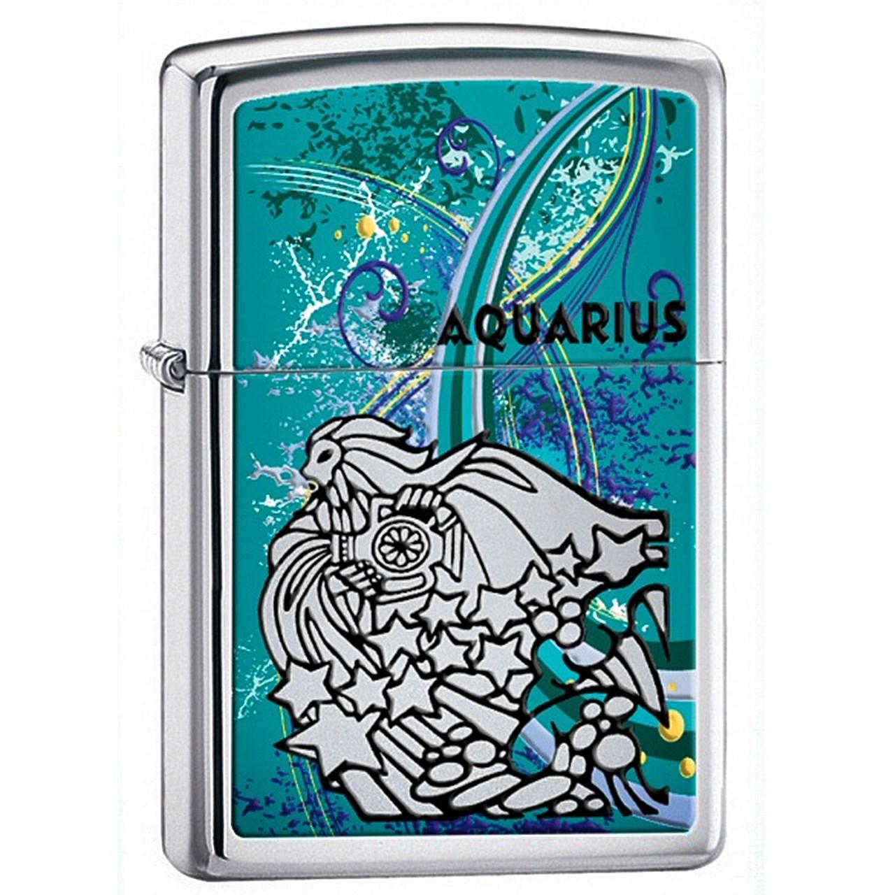 فندک زیپو مدل Zodiac Aquarius کد 24929