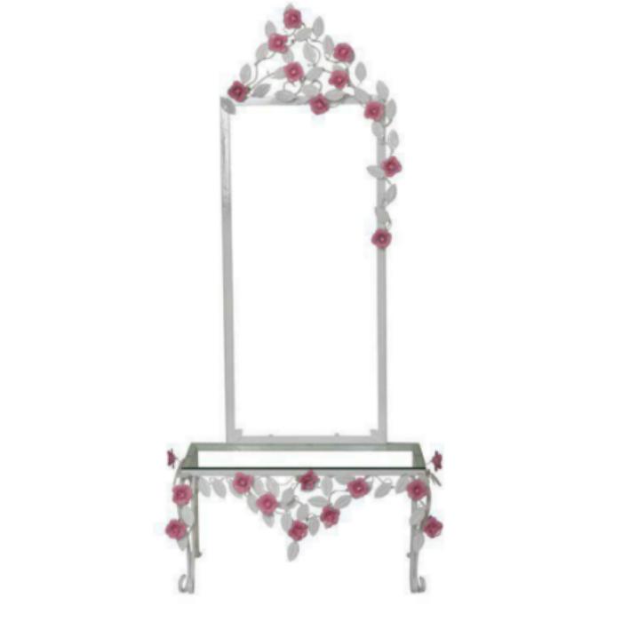 آینه و کنسول مدل فرفورژه طرح گل