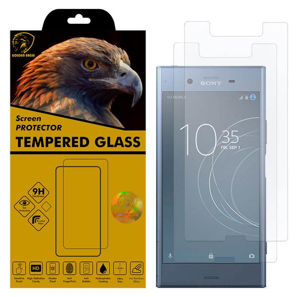 محافظ صفحه نمایش گلدن ایگل مدل GLC-X2 مناسب برای گوشی موبایل سونی Xperia XZ1 بسته دو عددی