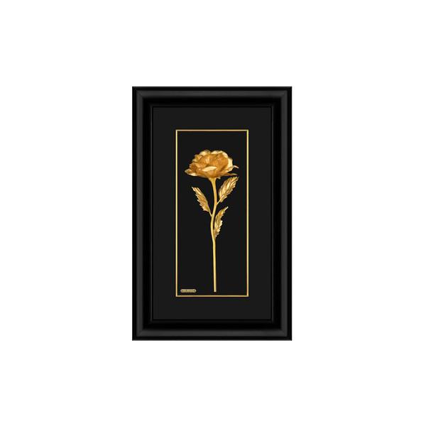 تابلو طلاکوب زرسام طرح گل رز بزرگ کد 10006332