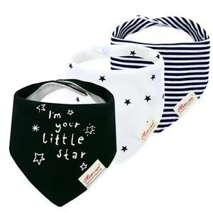 پیش بند نوزادی مدل ستاره مجموعه 3 عددی