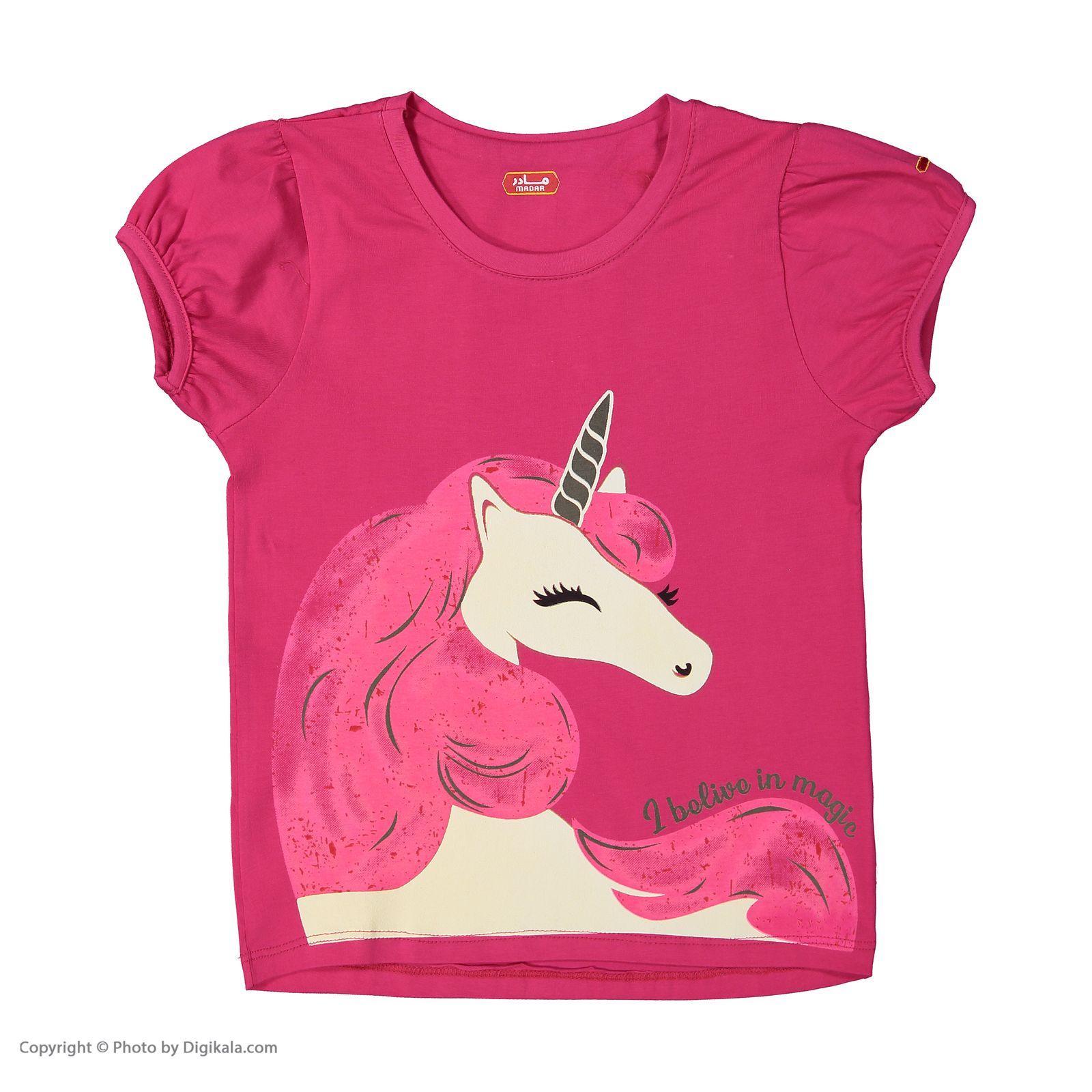 ست تی شرت و شلوار دخترانه مادر مدل 2041104-66 main 1 2