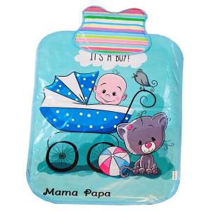 زیرانداز تعویض نوزاد ماما پاپا طرح پسر کوچولو کد 268