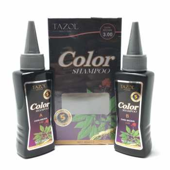شامپو رنگ مو تزول شماره 3.0 حجم 60 میلی لیتر رنگ قهوه ایی تیره  بسته 2 عددی