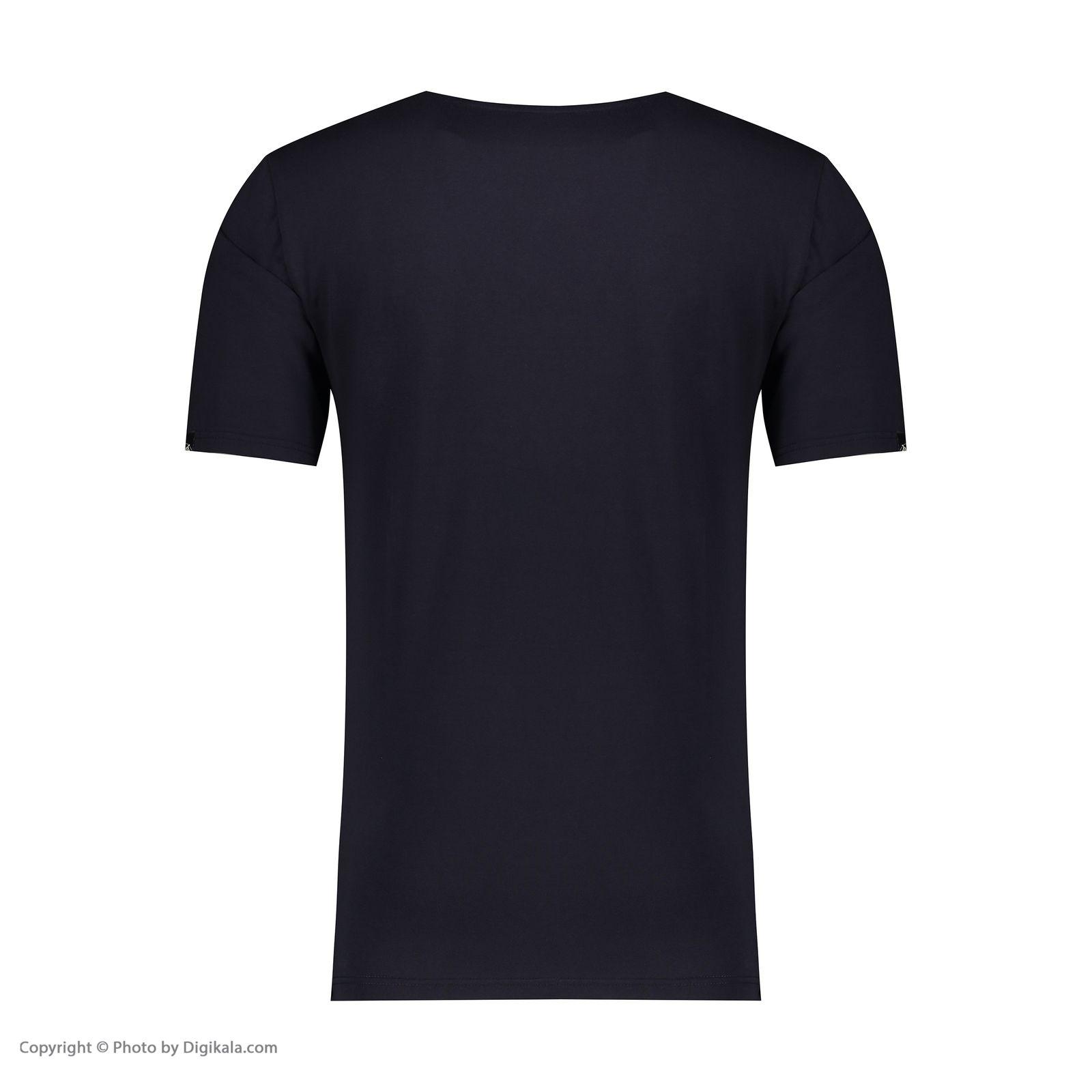 تی شرت مردانه پاتن جامه کد 99M5224 رنگ سرمه ای  -  - 3