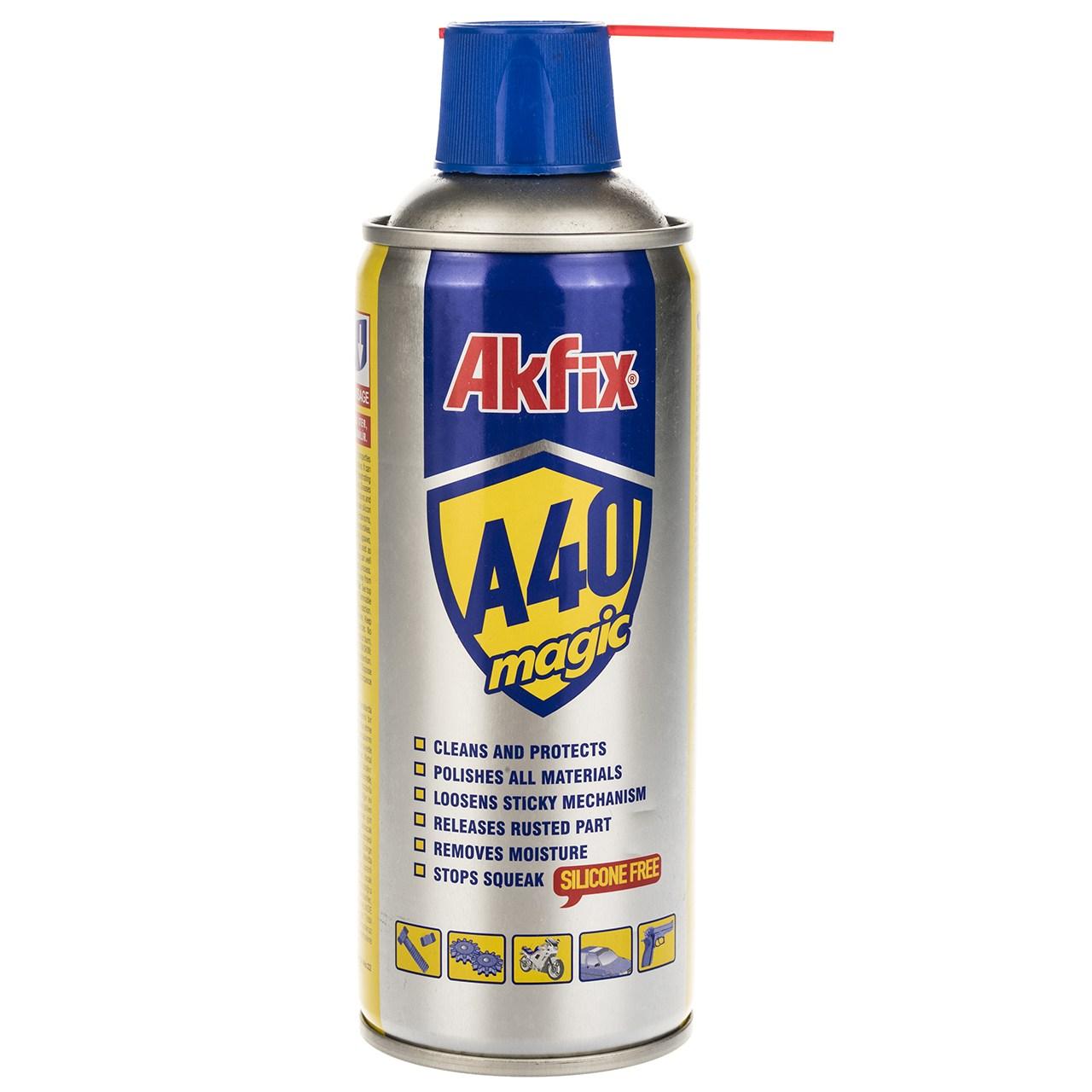 قیمت اسپری روان کننده آکفیکس مدل A40 حجم 400 میلیلیتر