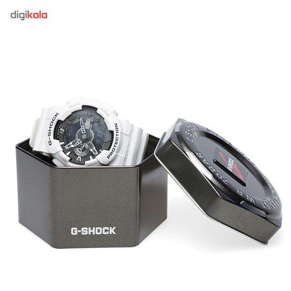 ساعت مچی عقربه ای کاسیو سری جی شاک مدل GA-110GW-7ADR مناسب برای آقایان -  - 4