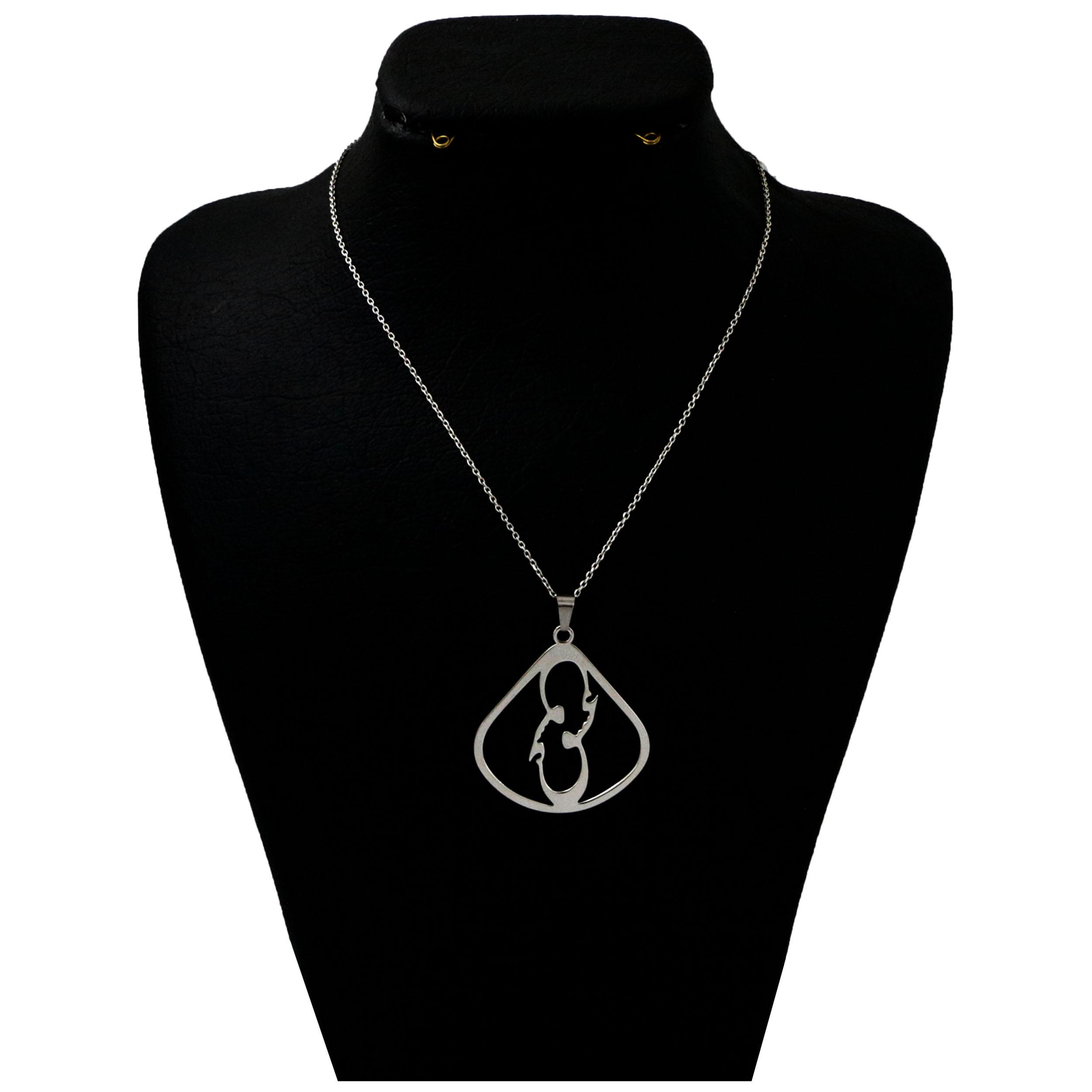 گردنبند نقره زنانه دلی جم طرح عشق کد D 316