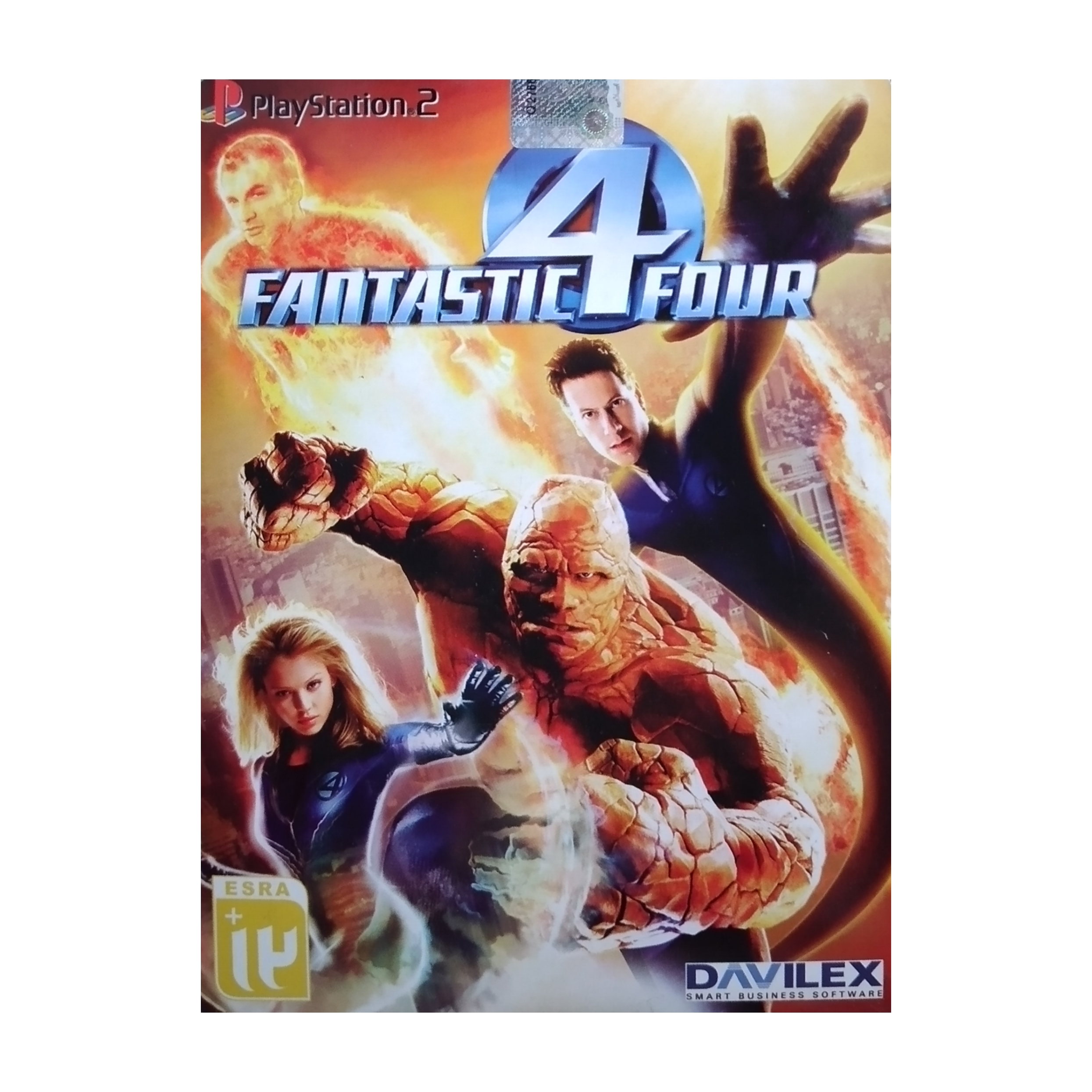 بازی FANTASTIC FOUR مخصوص PS2 نشر لوح زرین