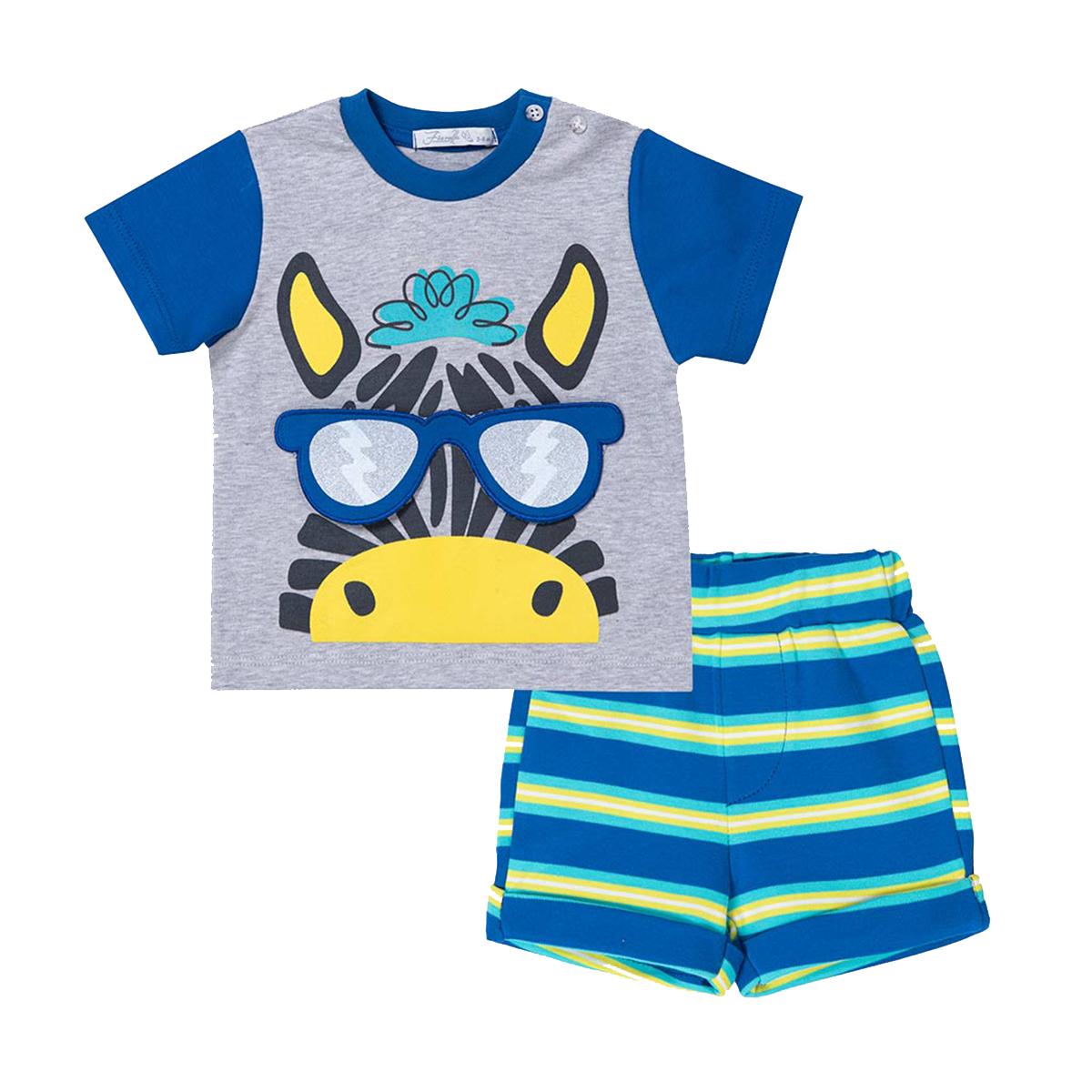 ست تی شرت و شلوارک نوزادی فیورلا مدل 21032