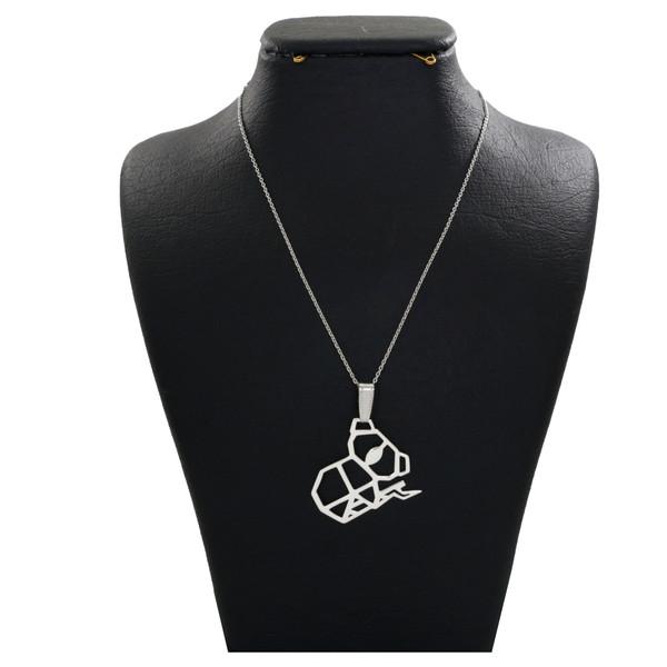 گردنبند نقره زنانه دلی جم طرح کوالا کد D 99