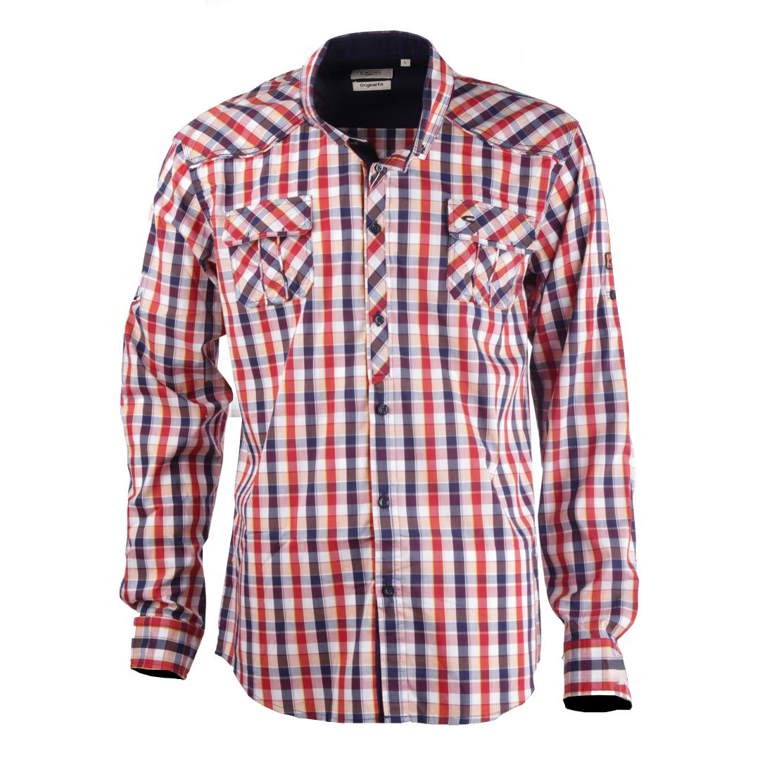 پیراهن آستین بلند مردانه کمل مدل 3MNS-2019-008