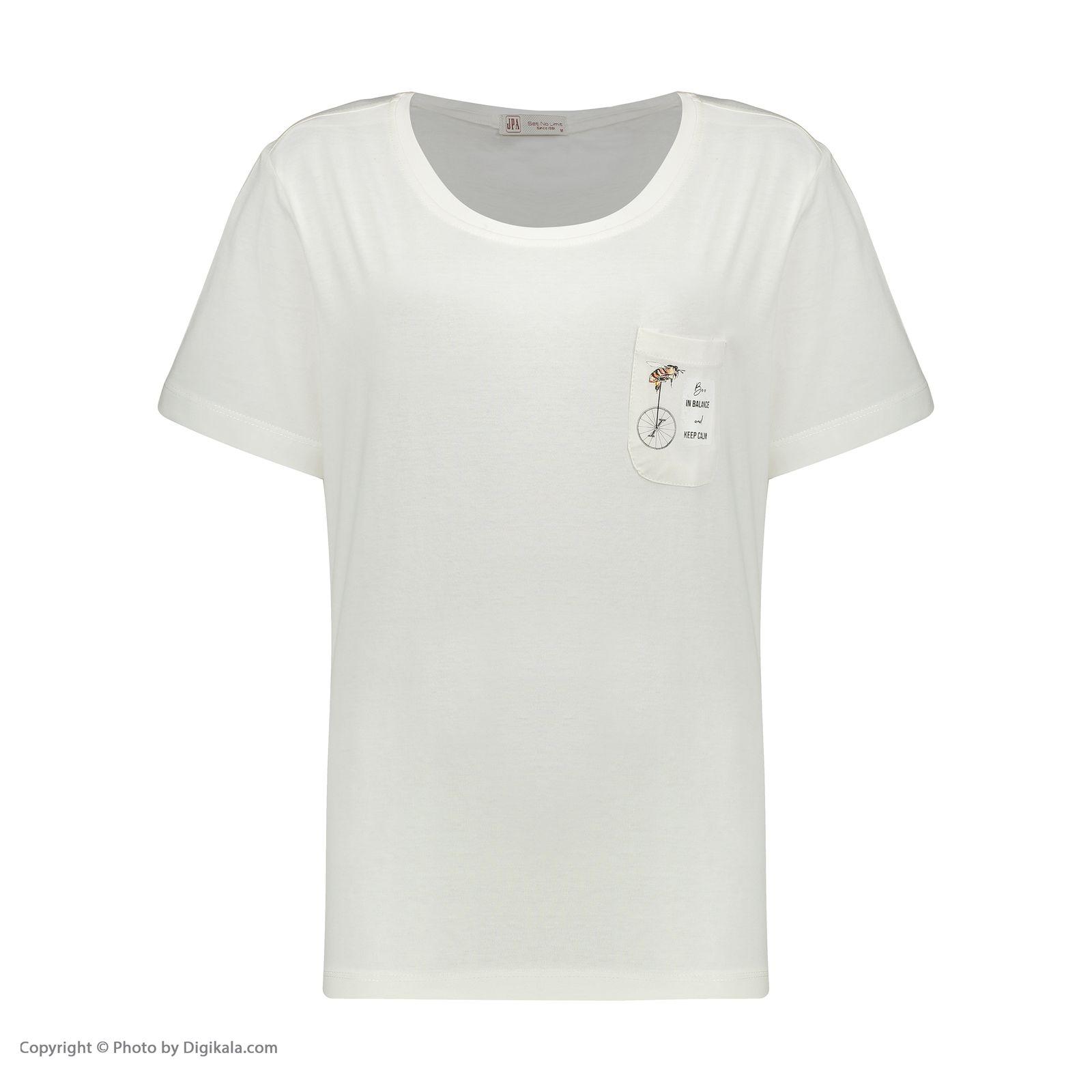 تی شرت زنانه جامه پوش آرا مدل 4012019475-05 -  - 3