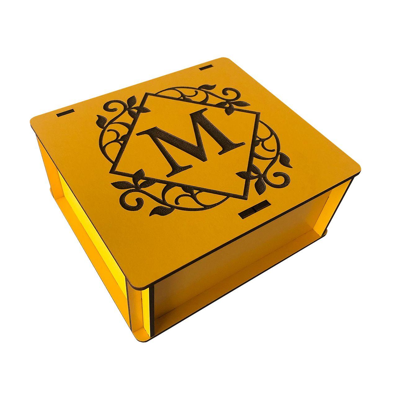 جعبه هدیه چوبی مدل j143