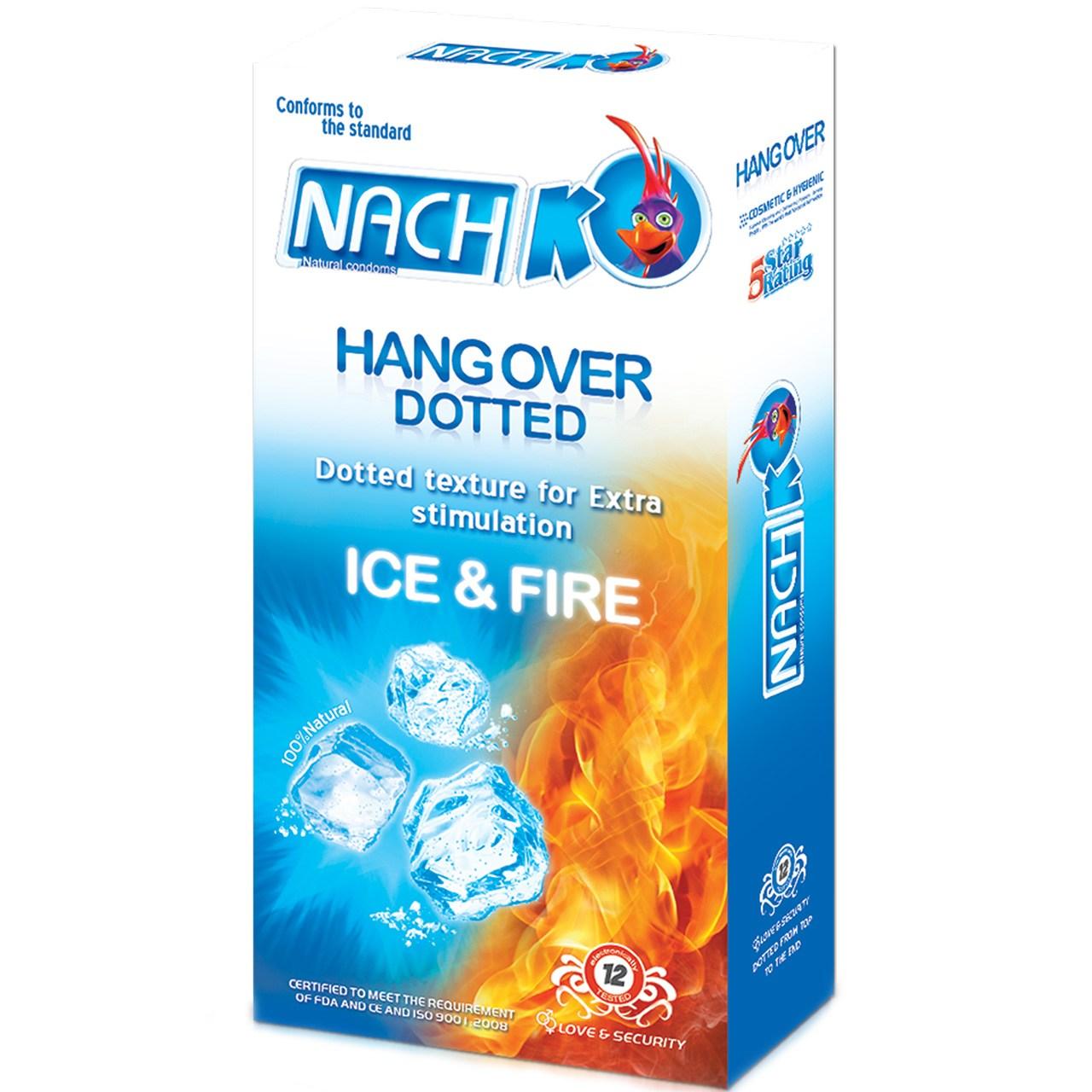 قیمت کاندوم خاردار کدکس مدل Hang Over Ice And Fire بسته 12 عددی