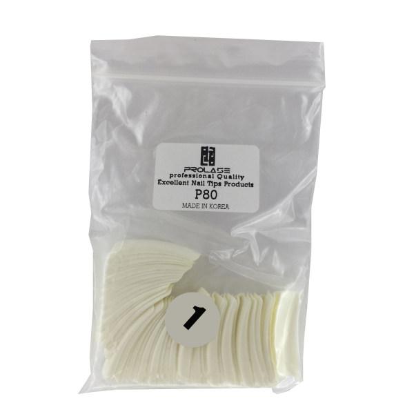 تیپ کاشت ناخن پرولایز شماره 1- p80 بسته 50 عددی