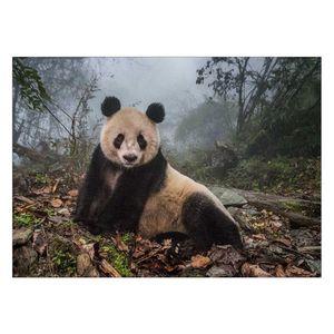 تابلو شاسی ونسونی طرح Alone Panda سایز 30 × 40 سانتی متر