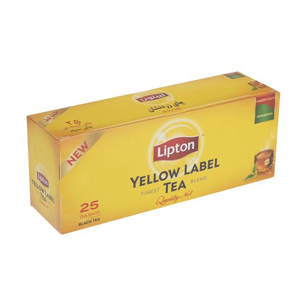 چای کیسه ای لیپتون مدل Yellow Label بسته 25 عددی
