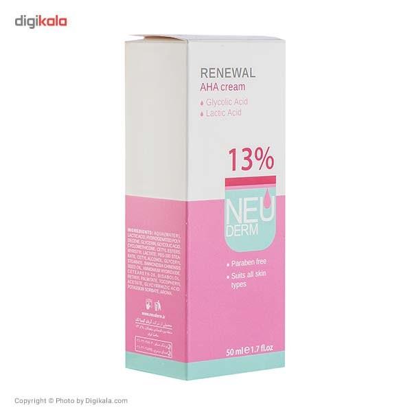 کرم لایه بردار نئودرم مدل  Renewal AHA 13% حجم 50 میلی لیتر