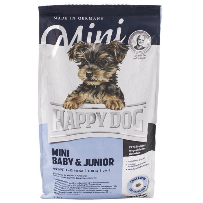 غذای خشک سگ هپی داگ مدل Baby & Junior وزن 1000 گرم